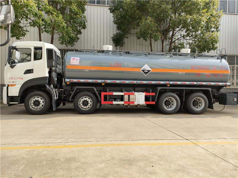 钢衬塑防腐罐式化工车厂家生产 18吨腐蚀性物品罐式运输车视频视频