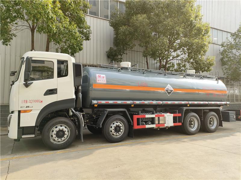 18吨氢氯酸化工液体运输液罐车价格 8类腐蚀性物品运输车视频