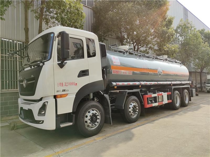 国六东风天龙18吨氢氯酸腐蚀性物品罐式运输车