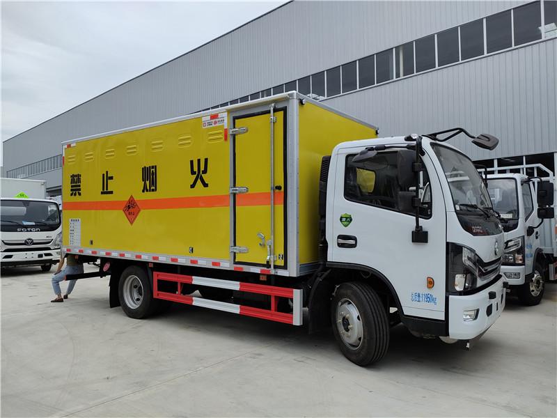 国六黄牌东风多利卡D7爆破器材运输车厢长5.15米炸药车