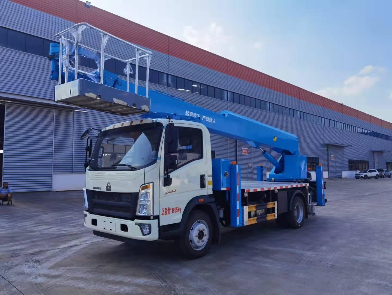重汽悍将直臂28米高空作业车 伸缩臂 后置直臂高空作业车