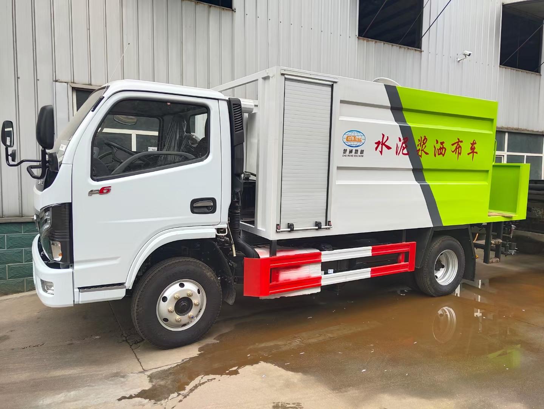 國六東風5方水泥漿撒布車圖片