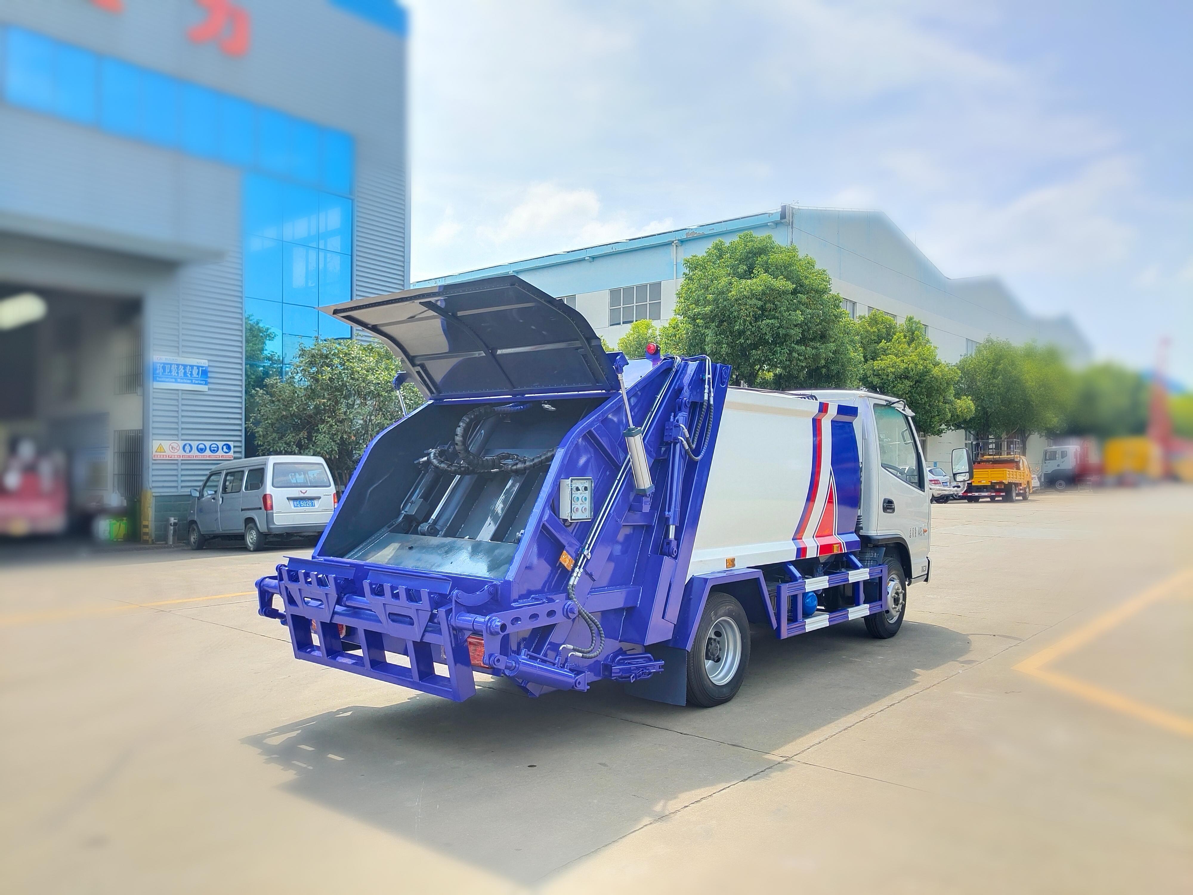 東風4方藍牌壓縮垃圾車不超重好上牌圖片