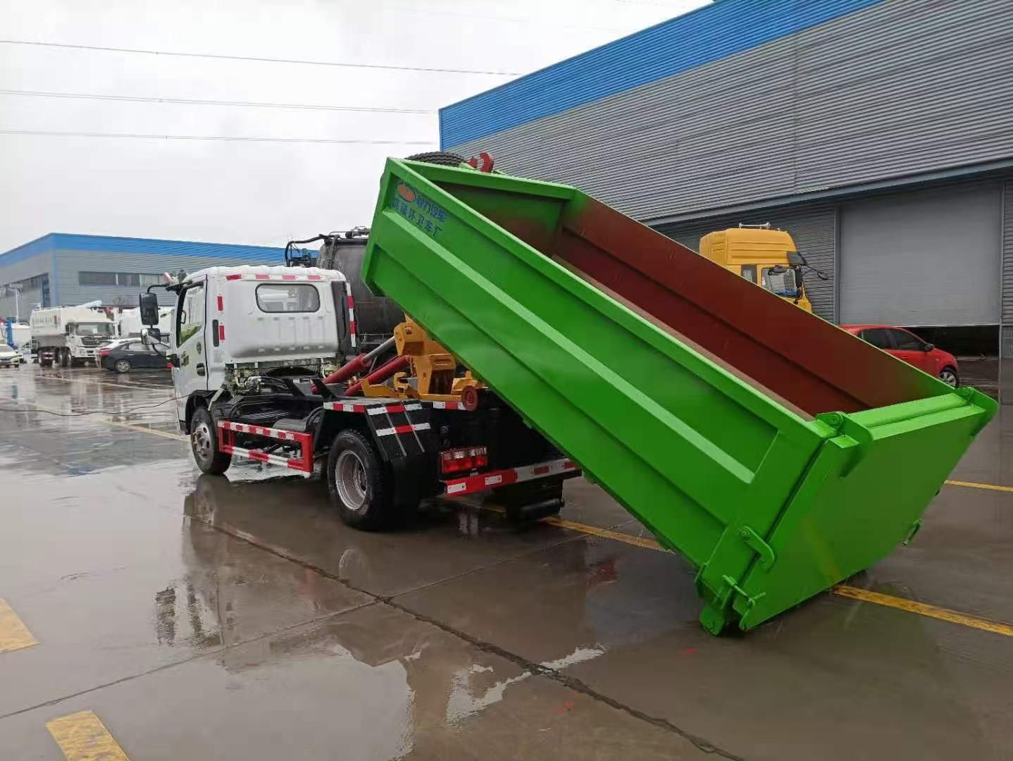 一款適合拉建筑垃圾的垃圾車圖片