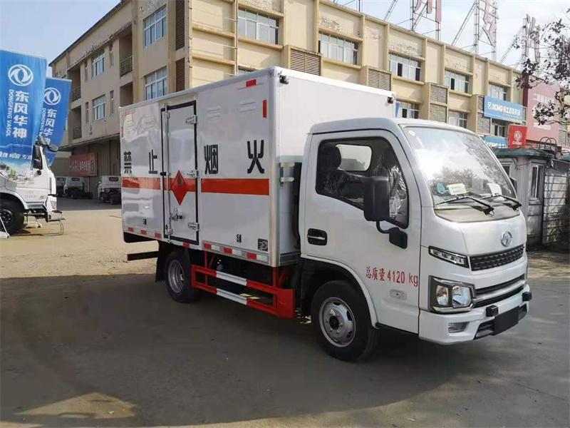 程力危险品厢式运输车跃进福运S80国六厂家专售
