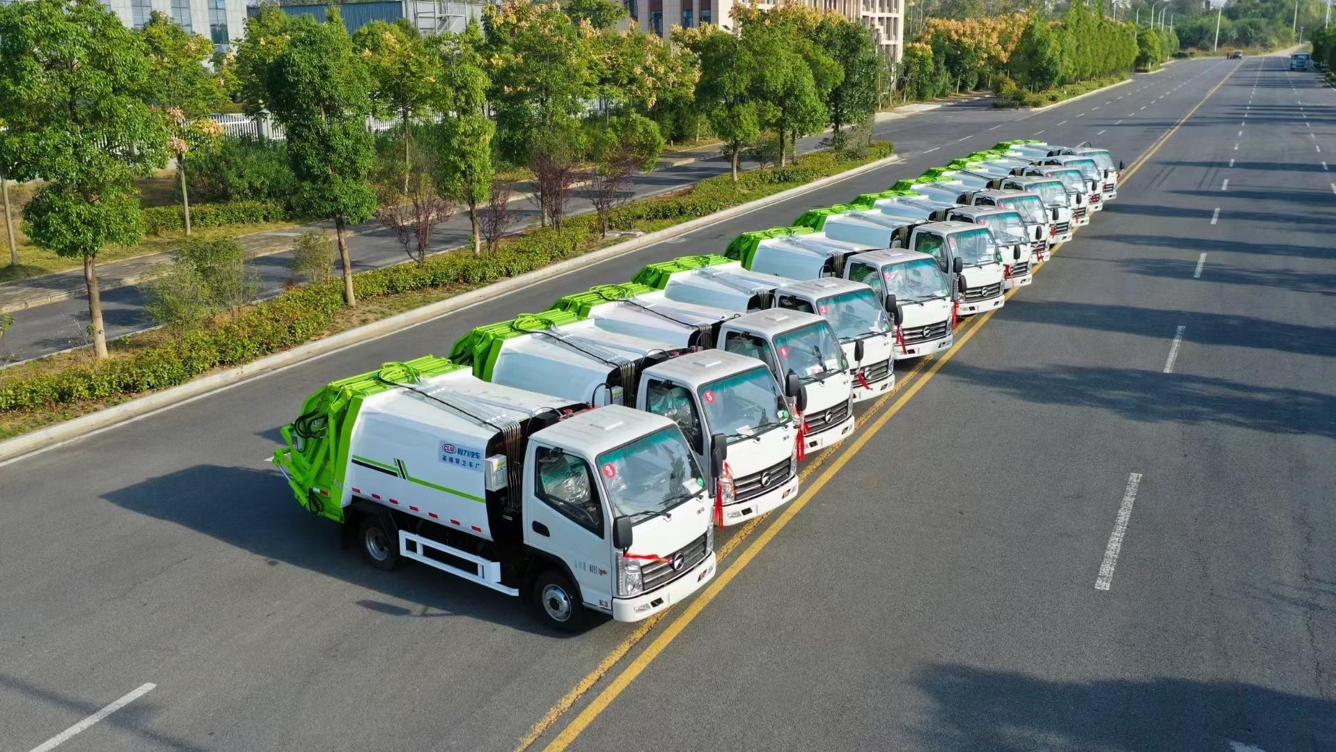 國六藍牌壓縮式垃圾車凱馬圖片