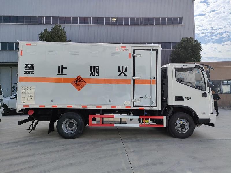 国六福田奥铃危货车 黄牌厢长4米1民爆车 标载4.3吨爆破器材厢式运输车包上牌 送车到家图片