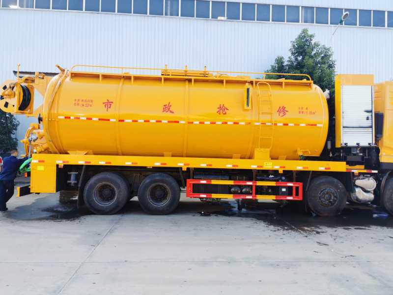 楚胜厂家优质货源 国六34方东风天龙前四后八清洗吸污车图片