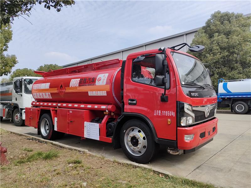8吨油罐车怎么选?楚胜牌中国红国六东风8吨油罐车报价视频