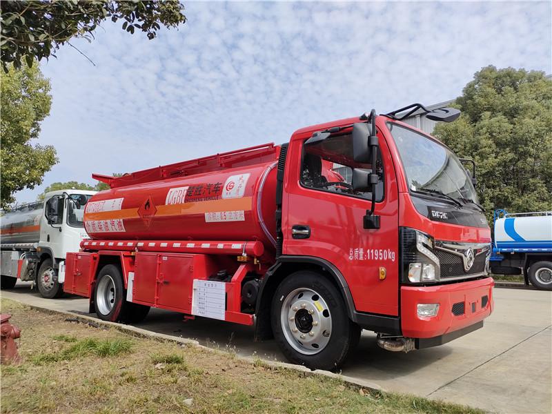 楚胜牌8吨油罐车 中国红国六东风福瑞卡8.5方加油车图片