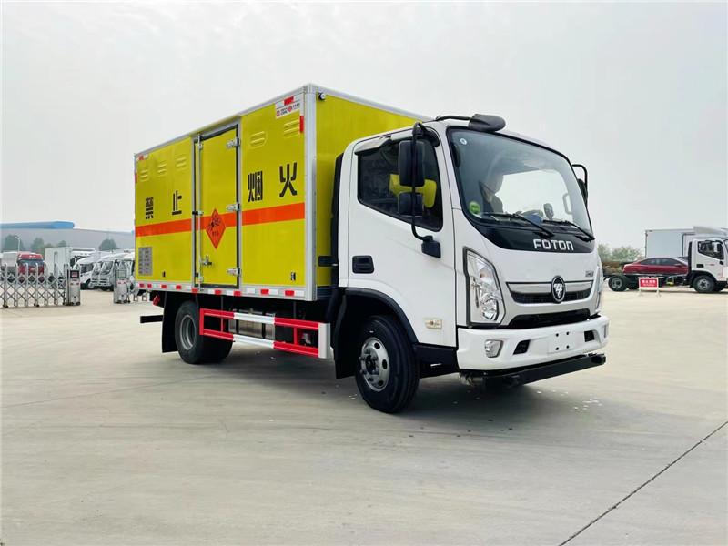 危险品运输车厂家 国六福田奥铃速运爆破器材运输车厢长4.08米 额载4.3吨民爆车