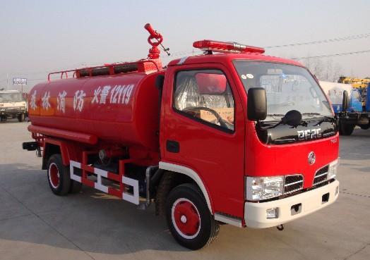 东风4吨消防洒水车5吨消防洒水车图片