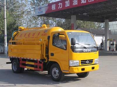 东风蓝牌水罐1.5吨污水罐1.8吨清洗吸污车(联合疏通车)高压清洗车图片