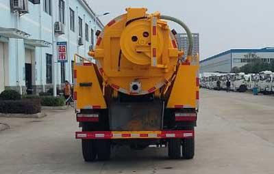 东风大多利卡清水罐2.5吨污水罐5.5吨清洗吸污车(联合疏通车)图片