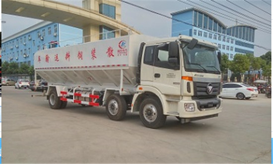福田欧曼饲料车30吨散装饲料车图片