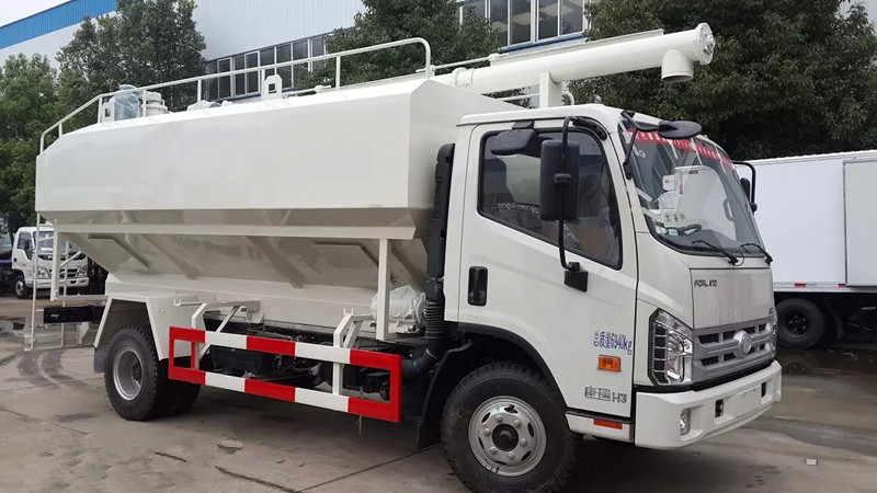福田时代散装饲料运输车12吨散装饲料车图片