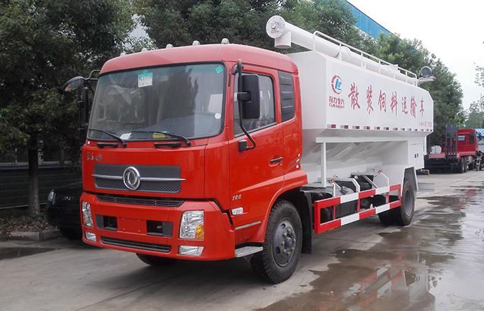 东风天锦国四散装饲料运输车10吨散装饲料车图片