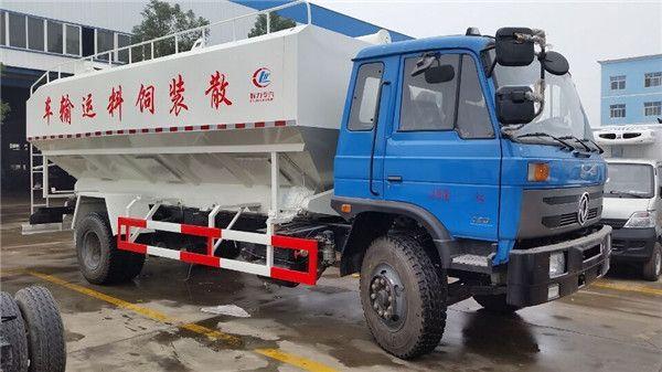 东风153散装饲料运输车10吨散装饲料车图片