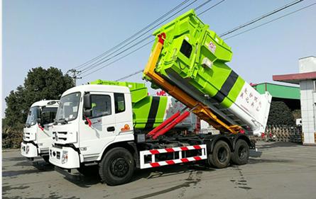 东风御龙25吨勾臂式垃圾车东风勾臂垃圾车图片