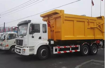 东风25吨勾臂式垃圾车东风勾臂垃圾车图片