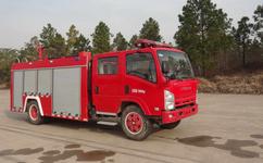 水罐消防车各部分的功能介绍图片
