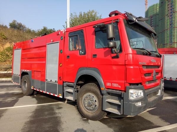 重汽豪沃8吨水罐消防车(国五)图片
