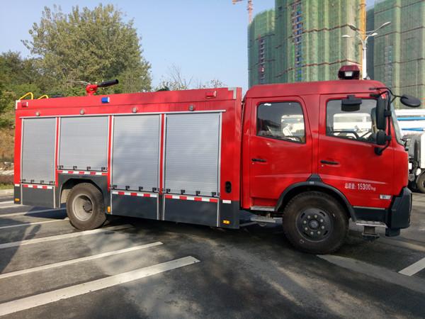 东风天锦6吨水罐消防车(国五)图片