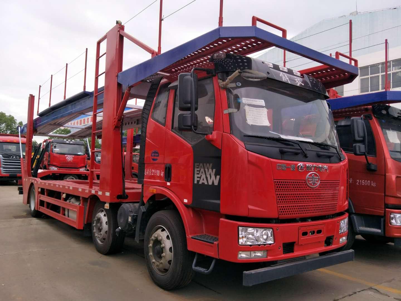 长春解放J6小三轴中置轴轿运车