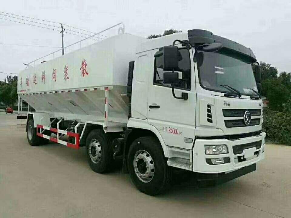 散装饲料运输车40方容积20吨散装饲料车价格图片