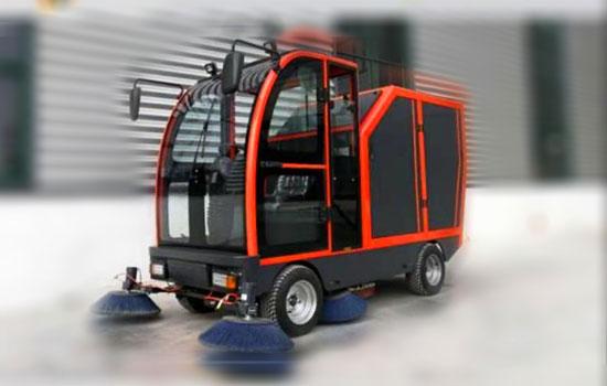 新能源液压自卸式扫地车图片