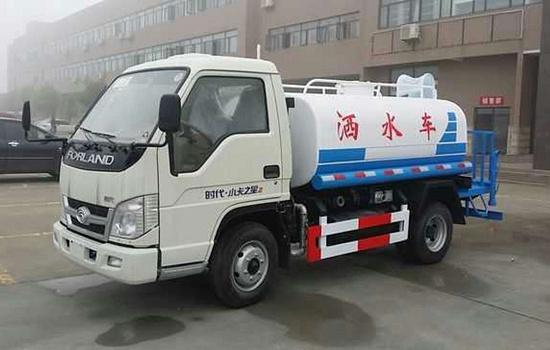 福田时代小卡蓝牌2吨洒水车福田洒水车图片