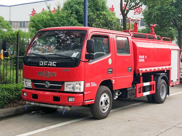 国五东风3.5吨双排消防洒水车东风消防洒水车图片
