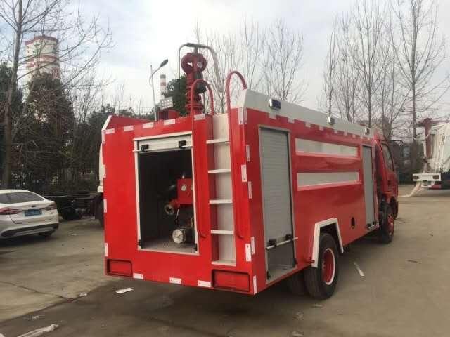 消防洒水车后喷效果
