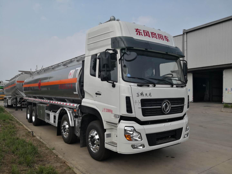东风天龙20吨铝合金油罐车油罐车图片