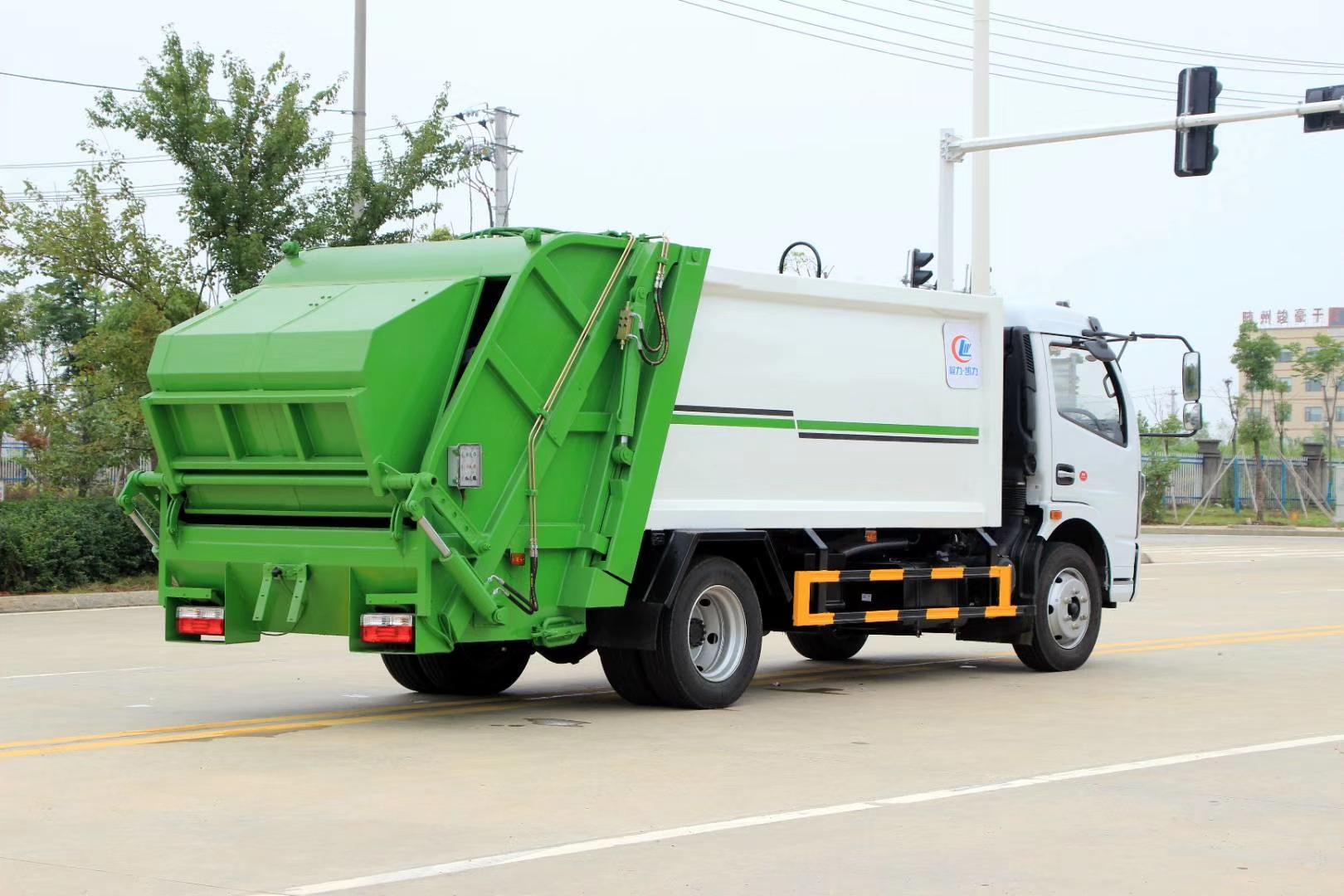 国六东风6方压缩垃圾车图片