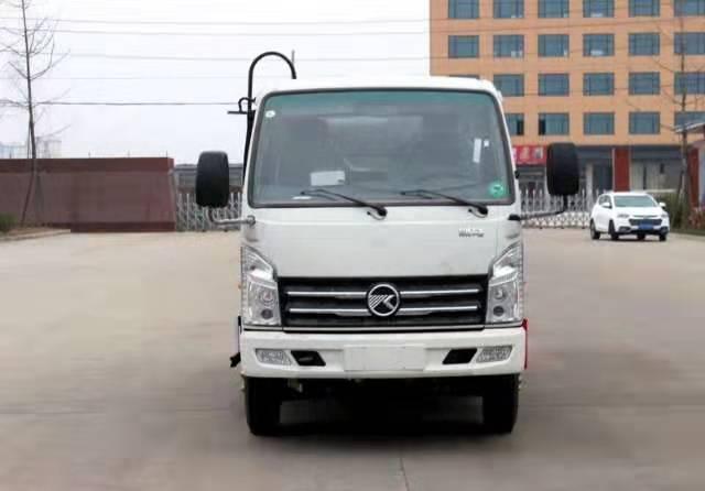 国六凯马4方蓝牌压缩垃圾车4吨压缩垃圾车图片