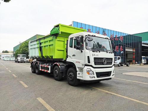30吨东风勾臂垃圾车厂家价格前四后八340大马力东风勾臂垃圾车图片