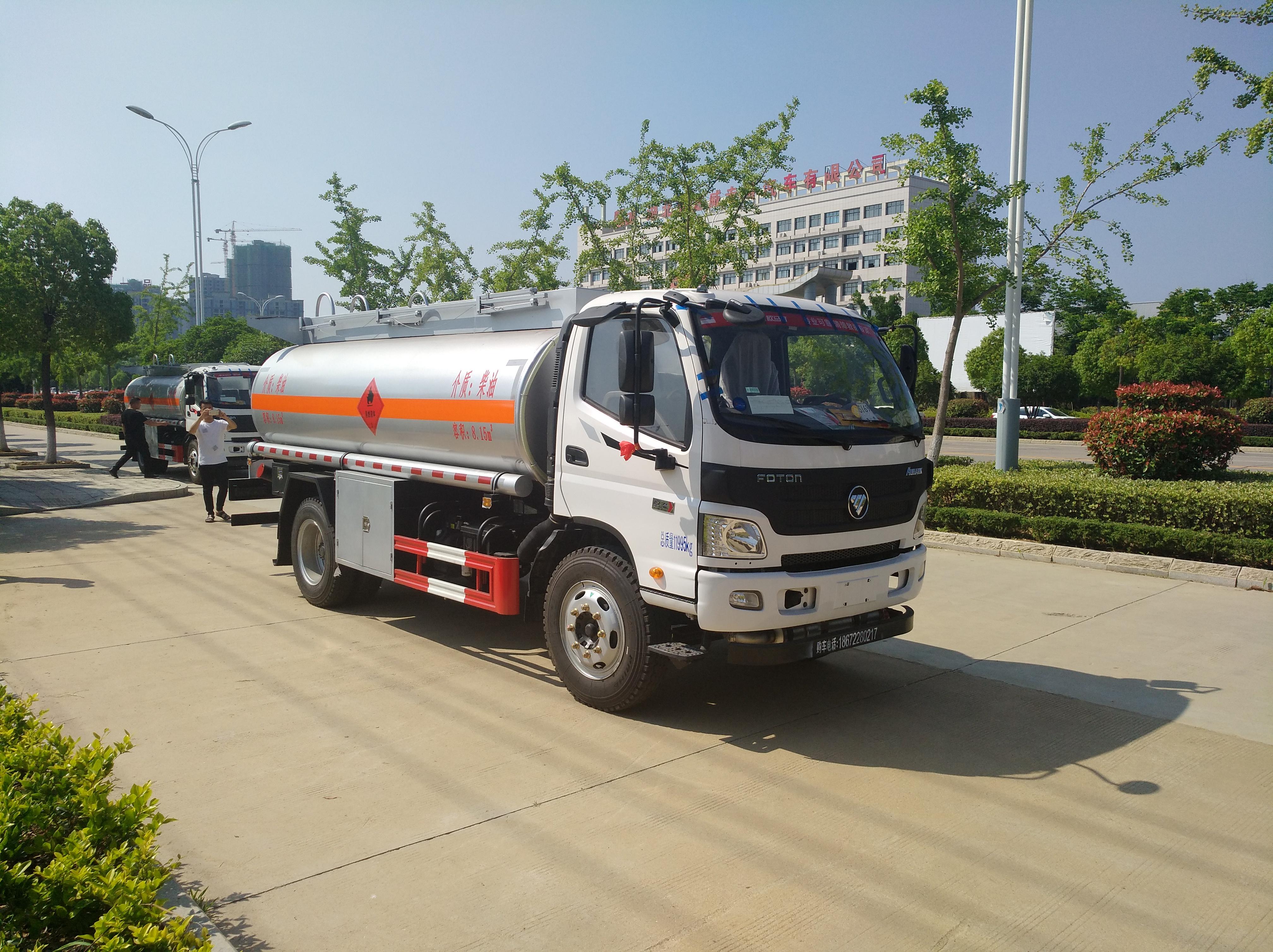 福田奥铃8吨油罐车福田油罐车图片
