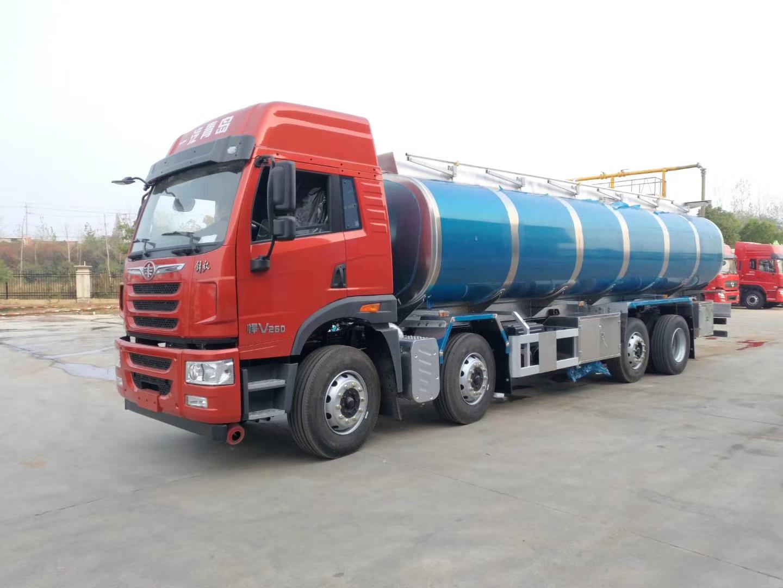解放悍威前四后六20吨铝合金油罐车解放油罐车图片