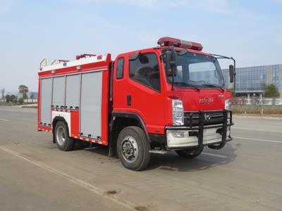豪沃6方越野消防车水罐消防车图片