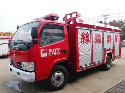 东风蓝牌小型水罐消防车水罐消防车图片