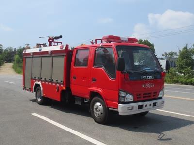 五十铃国六泡沫消防车消防洒水车图片