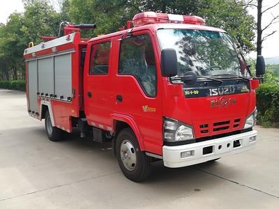 五十铃2吨泡沫消防车消防洒水车图片