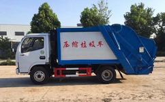 国六标准垃圾车---东风小多利卡4-5立方压缩式垃圾车--压缩式垃圾车车价格|报价图片