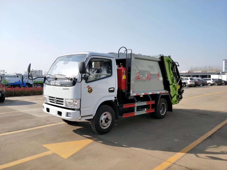 奥龙汽车周厂长推荐的蓝牌东风压缩垃圾车最新报价图片