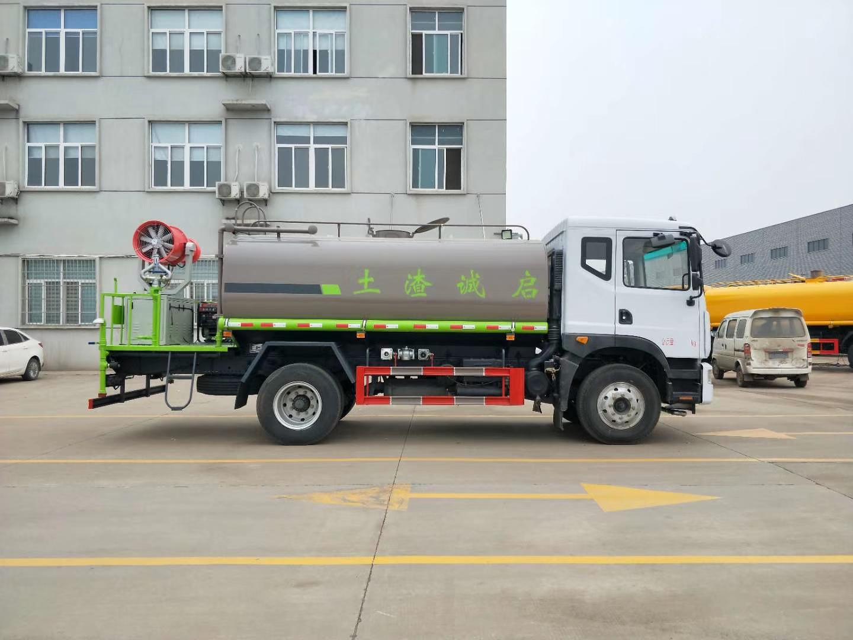 12吨大多利卡D9东风洒水雾炮车加装30米柴油雾炮机图片