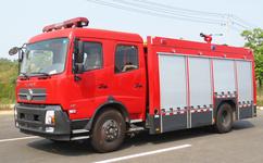 消防洒水车--东风天锦水罐消防车厂家--城镇消防车价格图片