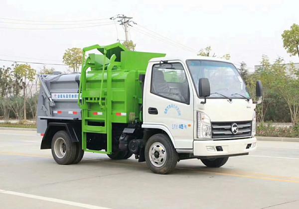 凯马蓝牌3方餐厨垃圾车3吨餐厨垃圾车图片