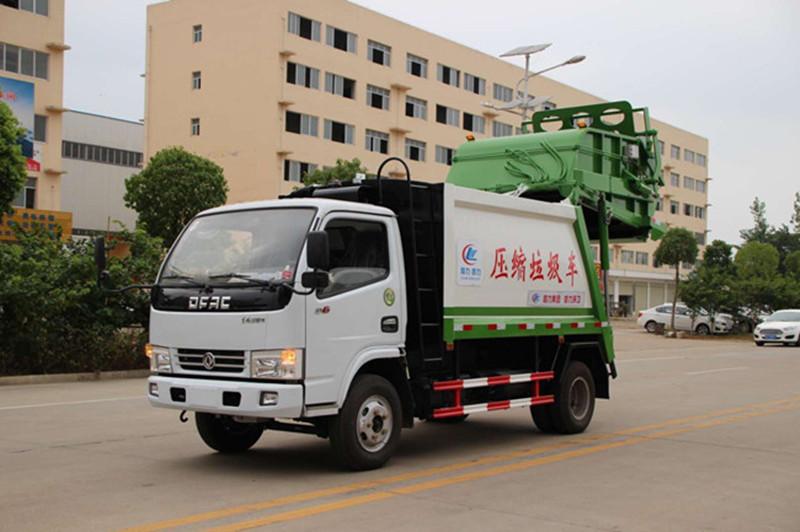 东风6方垃圾车,小区垃圾清运车配置和价格图片