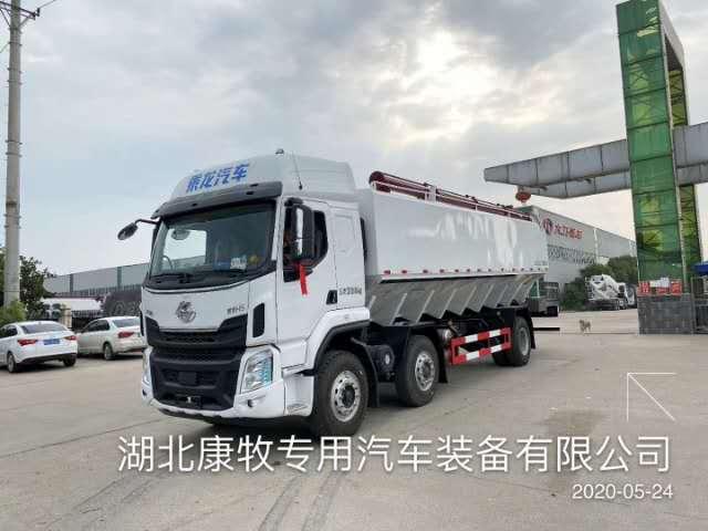 柳汽国六27方散装饲料运输车厂家直销